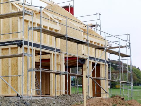 Dachfenstereinbau  Holzrahmenbau